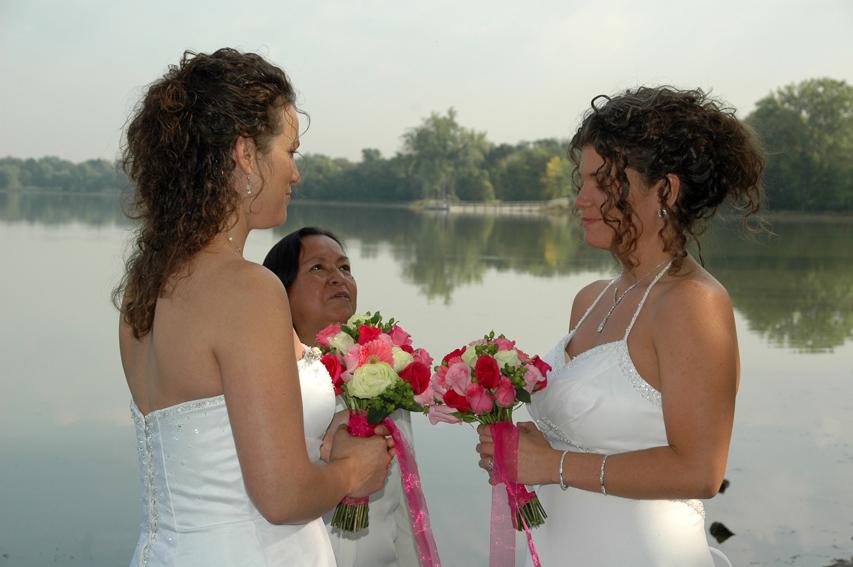 Joanna Louise Kohler and Rebecca Joy Gilgen Lake Nikomis Minneapolis, MN