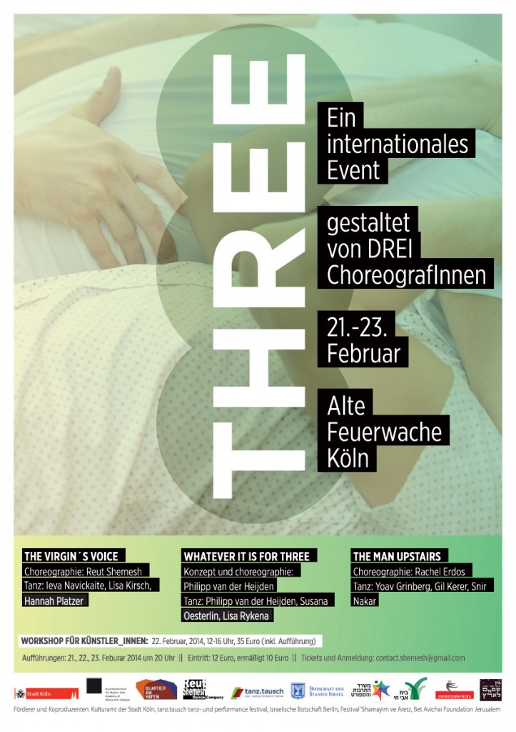 THREE dance performance flyer